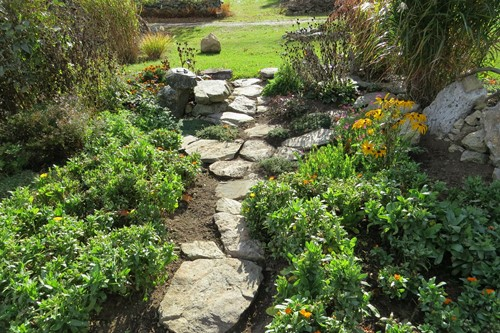 Use Native Stones to Create a Rustic Walkway