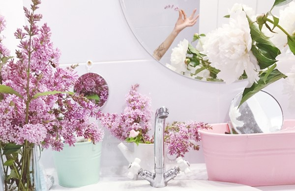 Add Flowers to Your Bathroom
